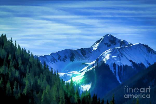 Crazy Mountains Painting - Mountain Sunshine by Janice Pariza