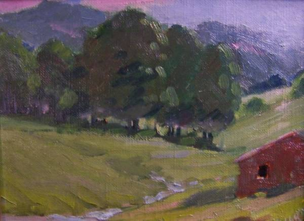 Sand Creek Painting - Mountain Valley by Dan Smart