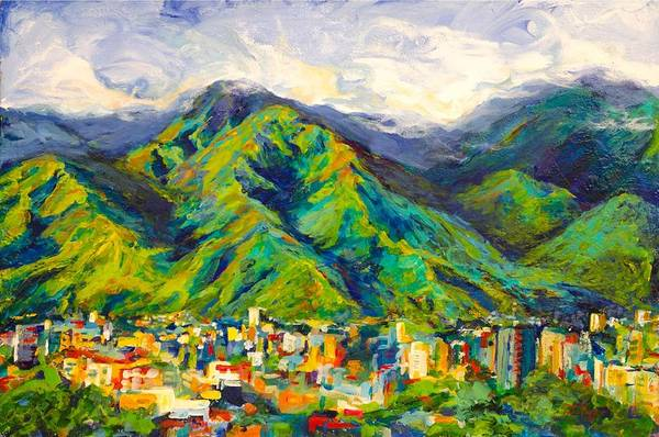 Cielo Wall Art - Painting - Mountain Valley by Patricia Maguire