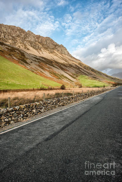 North Wales Wall Art - Photograph - Mountain Valley Road by Adrian Evans