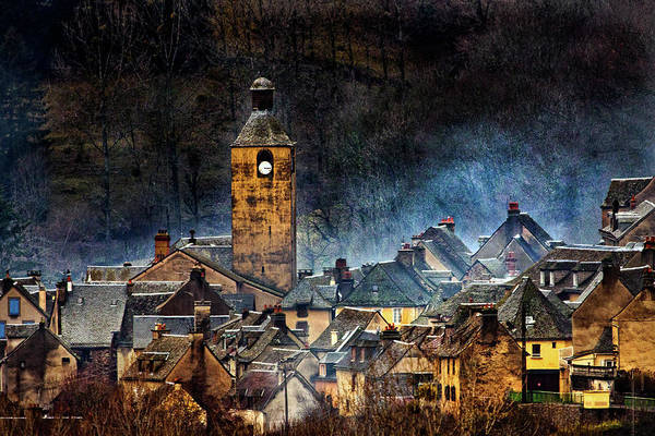Painterly Photograph - Mountain Village In France by Alain Mazalrey