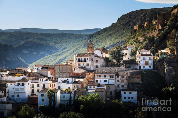 Photograph - Mountain Village Of Chulilla In Valencia Spain by Peter Noyce