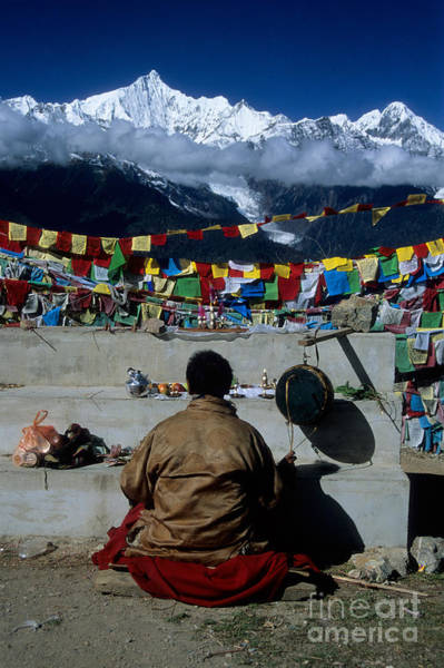 Photograph - Mountain Worship In The Himalaya by James Brunker