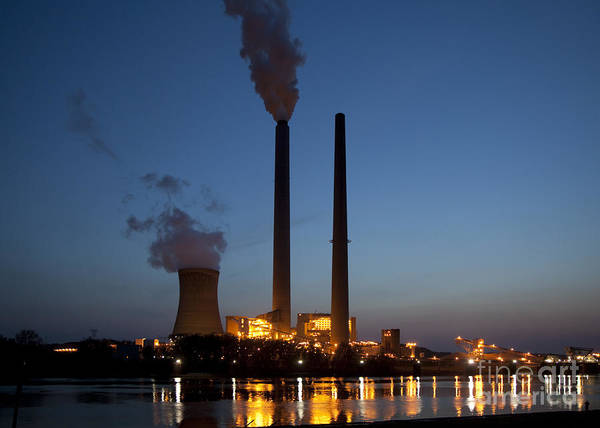 Photograph - Mountaineer Power Plant by Jim West