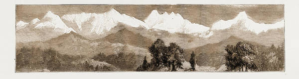 Wall Art - Drawing - Mountaineering In The Himalayas, Views Of Nanda Devi by Litz Collection