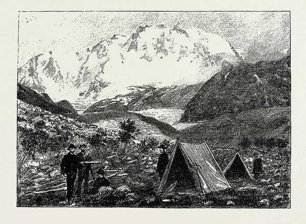 Wall Art - Drawing - Mountaineers Camp by Litz Collection
