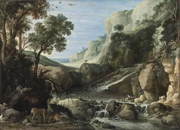 Circa Painting - Mountainous Landscape by Celestial Images