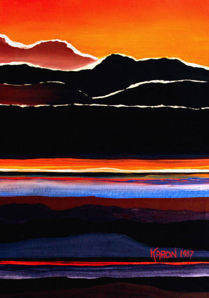 Wall Art - Painting - Mountains Abstract by Karon Melillo DeVega