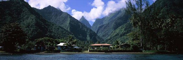 Peacefulness Photograph - Mountains And Buildings On The Coast by Panoramic Images