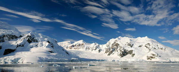 Glacier Bay Photograph - Mountains And Glaciers, Paradise Bay by Panoramic Images