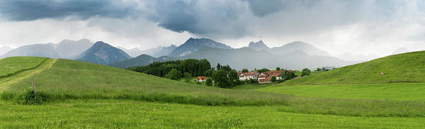 Wall Art - Photograph - Mountains And Green Fields by Wladimir Bulgar/science Photo Library