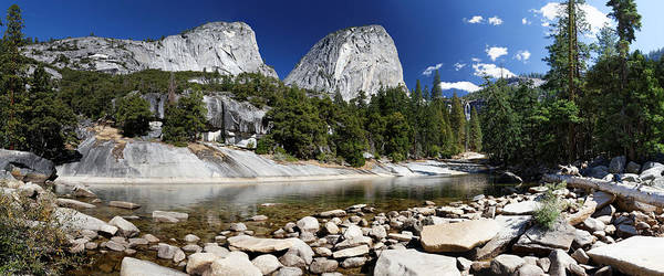 Vernal Fall Photograph - Mountains And Stream In Yosemite by Rogertwong