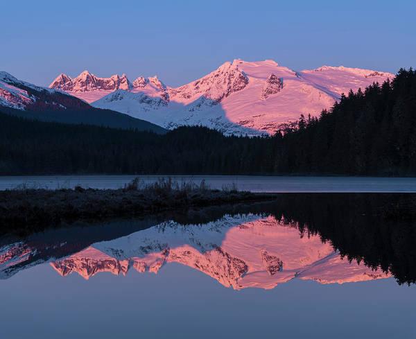 Alpen Glow Wall Art - Photograph - Mountains Glowing Pink At Sunrise by John Hyde