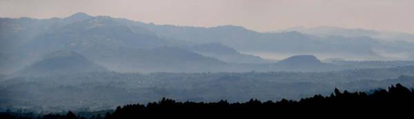 Rwanda Photograph - Mountains In Mist At Dawn, Rwanda by Panoramic Images