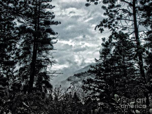 Helen Hunt Falls Photograph - Mountains In The Fog by Christina Perry