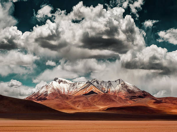 Wall Art - Photograph - Mountains In The Salvador Dali Desert - Bolivia by Hernan Calderon Velasco