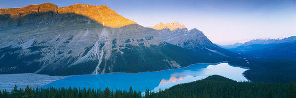 Peyto Lake Wall Art - Photograph - Mountains Next To A Lake, Peyto Lake by Panoramic Images