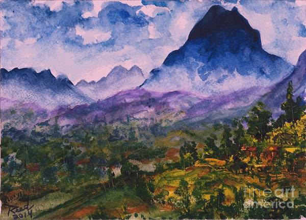 Mountains Of Pyrenees  Art Print