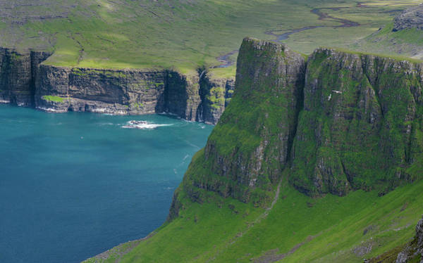 Archipelago Photograph - Mountains Of Vagar, Part Of The Faroe by Martin Zwick
