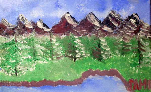 Wall Art - Painting - Mountains by Samuel Ciocan