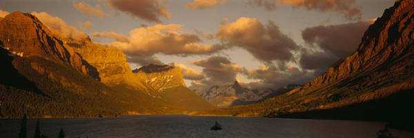 Glacier Bay Photograph - Mountains Surrounding A Lake, St. Mary by Panoramic Images