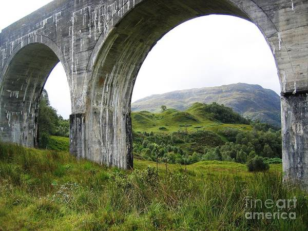 Photograph - Mountains Through The Viaduct by Denise Railey