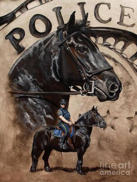 Wall Art - Painting - Mounted Patrol by Pat DeLong