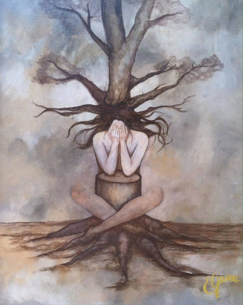 Wall Art - Painting - Mourning Nature by Estela Gama