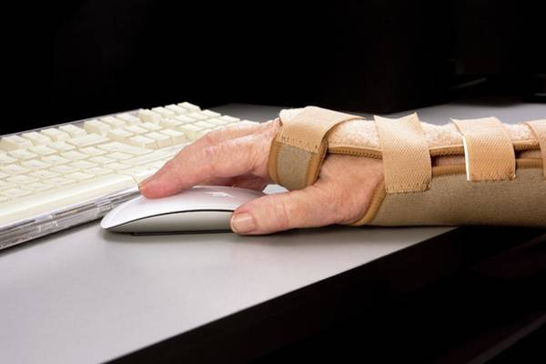 Injury Wall Art - Photograph - Mouse And Wrist Brace by Sheila Terry