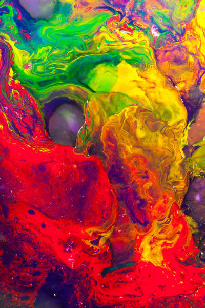 Pouring Digital Art - Mouse - Abstract Painting by Modern Abstract