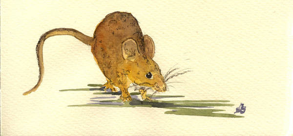 Rodent Wall Art - Painting - Mouse by Juan  Bosco