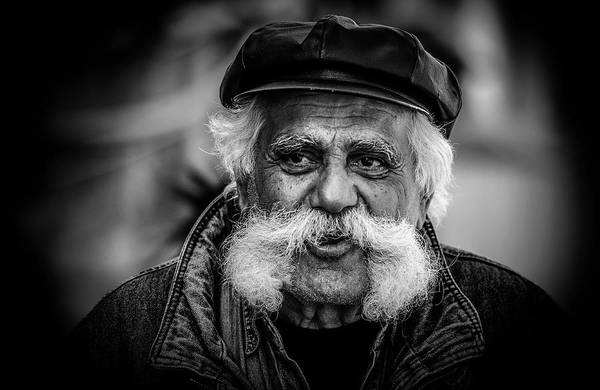 Moustaches Photograph - Moustache Man by Rabia Basha