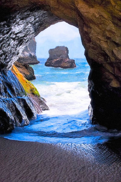 Photograph - Mouth Of The Magician's Cave - California Coast by Mark Tisdale