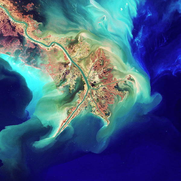 Wall Art - Photograph - Mouth Of The Mississippi by Nasa