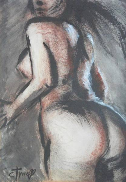 Oil Pastels Drawing - Movement by Carmen Tyrrell