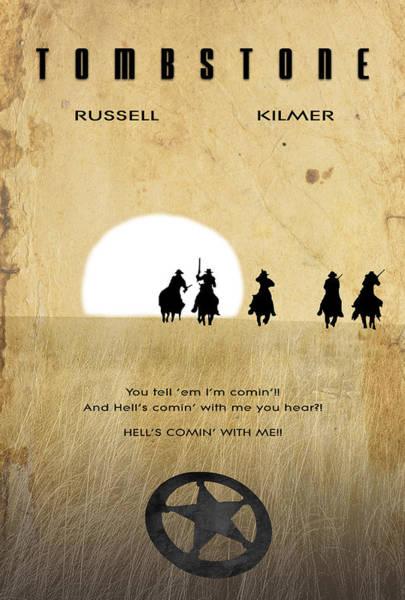 Wall Art - Digital Art - Movie Poster - Tombstone by Matt Greganti