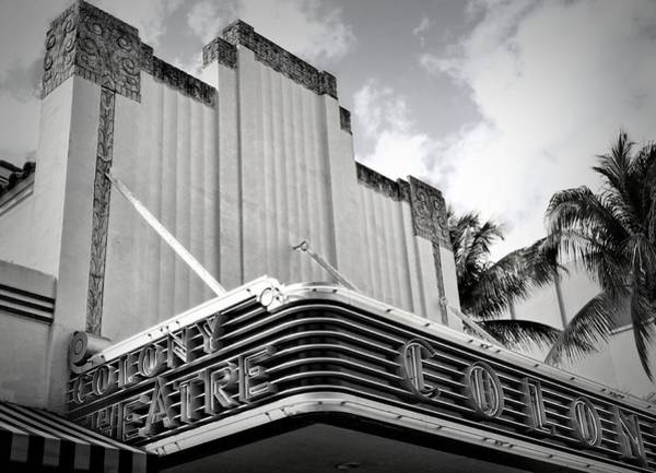 Photograph - Movie Theater In Black And White by Rudy Umans