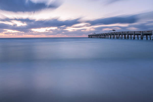 Lake Worth Wall Art - Photograph - Moving Along The Pier by Jon Glaser