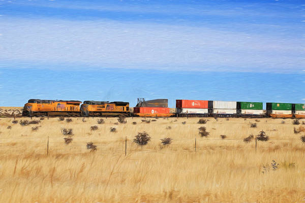Union Pacific Railroad Wall Art - Photograph - Moving America Across The Heartland by Donna Kennedy