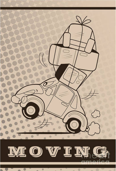 Wall Art - Digital Art - Moving Car by Fun Way Illustration