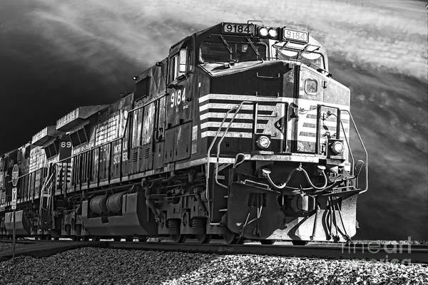 Norfolk Southern Wall Art - Photograph - Moving On by Tim Wilson