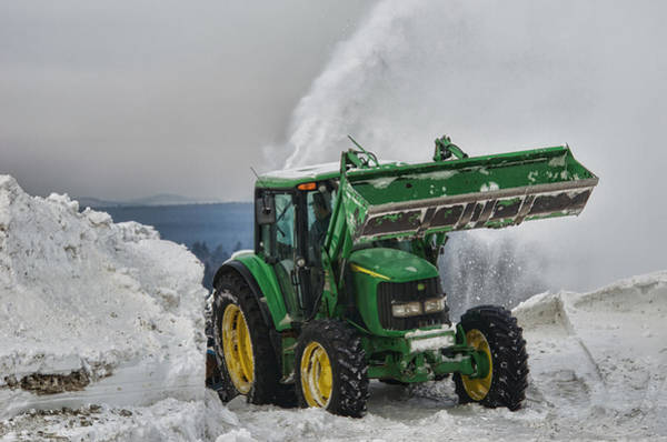Farm Equipment Photograph - Moving Snowbanks by Susan Capuano