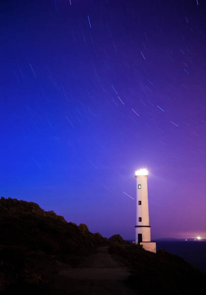 Galicia Photograph - Moving Stars Around Lighthouse by Enrique Díaz / 7cero