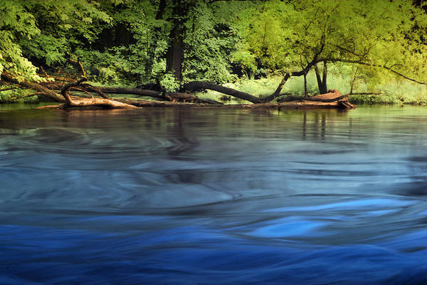 Photograph - Moving Water On The Thornapple River by Randall Nyhof