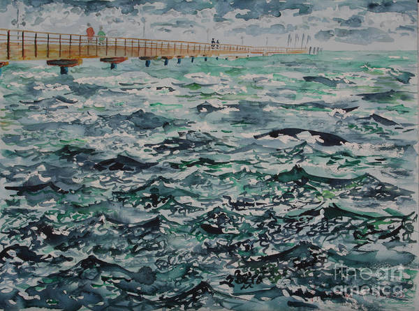 Baltic Sea Painting - Moving Waters by Almo M