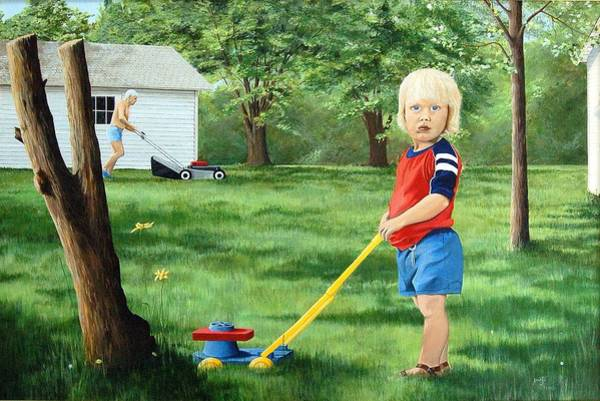 Painting - Mowing by AnnaJo Vahle