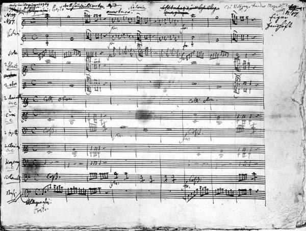 Artifact Painting - Mozart Manuscript, 1786 by Granger