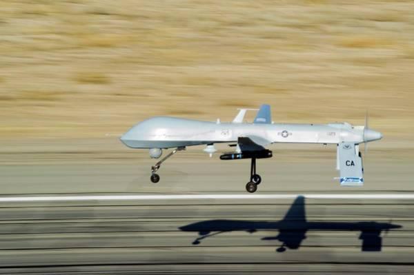 Aerial Combat Photograph - Mq-1 Predator Drone by Us Air Force/effrain Lopez