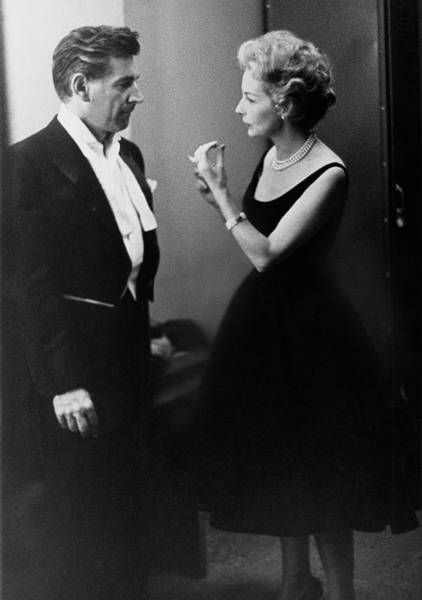 Gesture Photograph - Mr. And Mrs. Leonard Bernstein by Henry Clarke