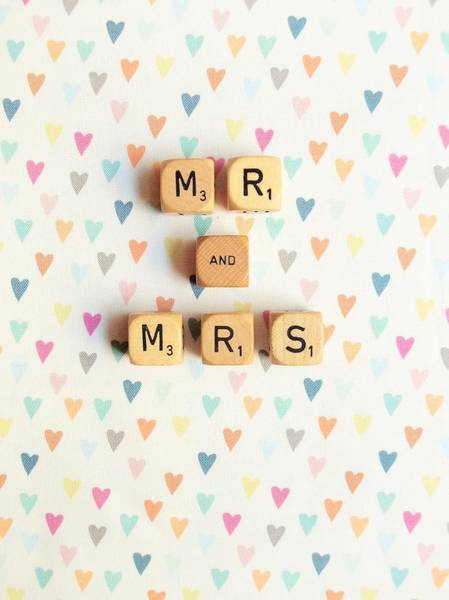 Happy Wedding Wall Art - Photograph - Mr And Mrs by Mable Tan